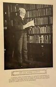 1919 Vintage Magazine Print Andrew Carnegie In His Library