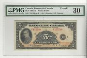 1935 Bank Of Canada Bc-6, 5 Osb/tow Sn F155798 Pmg Vf-30