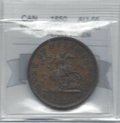1850province Of Canada, One Penny Token, Coin Mart Gradedau-55pc-6a1