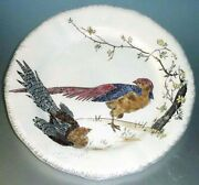 Gien Grands Oiseaux Brown Pheasant 10.25 Dinner Plate Hand Painted New In Box