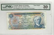 1972 Canada Bc-48bt 5 Law/bou Sn Rs 8348174 Pmg Vf-30 Test Note
