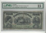 1902 Dominion Of Canada Dc-17b 4 Four Top Left And Right Sn A 353532 Pmg F-15
