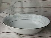 9 1/2 Lennox Bouquet Collection Porcelain Oval Serving Bowl From Japan