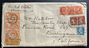 1928 Antibes France Registered Cover To Burlingame Ca Usa