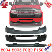 Front Bumper Paintable + Upper And Lower Cover For 2004-2005 Ford F150 2wd