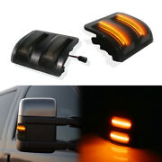 For Ford F250 F350 F450 F550 Smoked Amber Led Side Mirror Marker Signal Lights