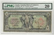 1917 Canadian Bank Of Commerce 5 Note 75160406a Ser B113694 Pmg Vf-20