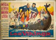 The Vikings 1958 Original Movie Poster Kirk Douglas Tony Curtis Janet Leigh Larg