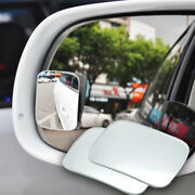 2x Car Adjustable Rv Blind Spot Mirror Glass Exterior Rear Side View Accessories