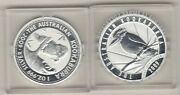 Two 2009 Cased Australia Kookaburra Silver One Ounce Coins In Mint Condition