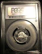 1965 Large Bead Djpcgs Graded Canadian Nickel 5 Cent Ms-63
