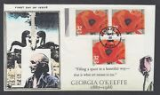 Us Sc 3069a Fdc. 1996 32c Georgia O'keefe, Imperf Pair With Normal, 8 Known, Vf