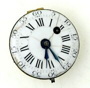 1780andrsquos Verge Fusee Pocket Watch Movement Very Small Size 25mm Runs