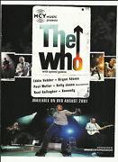 The Who Trade Ad Poster W/ Pearl Jam Paul Weller Oasis Stereophonics Bryan Adams
