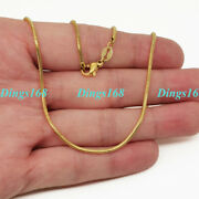 Unisex 18k Yellow Gold Filled Classic Tarnish-resist Snake Chain Necklace 1638