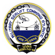 4.88 Navy Usns Rigel T-af-58 Military Sealift Embroidered Patch