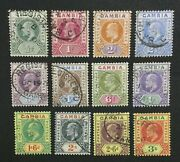 Momen Gambia Sg 45-56 1902-05 Used Lot 60004