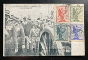 1921 Rome Italy Real Picture Postcard Cover The King Follows Coffin Of Soldier