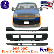 Front Bumper Painted + Cover + Valance For 2005- 07 Ford Super Duty F-250 F-350
