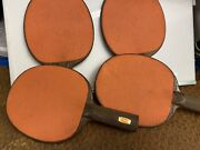 4 Vintage Sears Tennis Paddels Made In The Usa