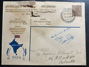 1929 Dum Dum India Joan Page Pilot Steven Smith Signed Air Cover To Calcutta