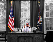 Barack Obama Talking On The Phone 8x10 Picture Celebrity Print