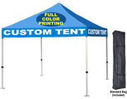 10x10 Custom Pop Up Canopy Event Party Tent Full Color Graphic Printing