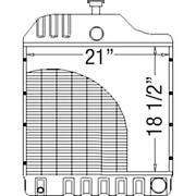 303457427 New Radiator Fits Mpl Moline Tractor Model 80 Height 18.5