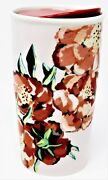 Starbucks Floral Flowers Mug Double Wall Coffee Ceramic Tumbler New Sold Out