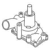 157069as New Tractor Water Pump And Gasket W/o Pulley For Oliver 1650 1750 1955 +