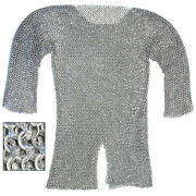 Theater Stage Re-enactment Aluminum Hauberk Medieval Costume Chainmail Ex-large