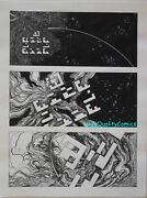 Mike Hinge Original Art 8 Page Sci-fi Story Arrival Astronauts Smithsonian