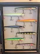 Lure Collection Rapala F18 Fishing Lures Display Cabin Decor Log Cabin