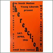 Roger Taylor The Reaction 1967 South Molton Concert Poster Uk