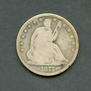 United States 1875-s Seated Liberty Half Dollar You Do The Grading Have Fun