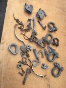 Boat/marine/farm Hardware Rigging Shackle Lot Lg Clevis/ Shackles Pulley 30 Lbs.