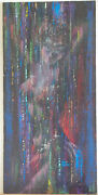 Kelly Freas Original Art, In The Bonds Of Death Painting - 1987, 14x30, Signed