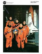 Sts-53 Crew Photograph Signed By Astronauts G. Bluford, B. Cabana, J. Voss.