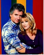 Patrick Duffy And Suzanne Somers Signed Autographed Step By Step Photo