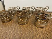 6 Antique Victorian Silver Plated Napkin Rings With Handles Made In Brazil