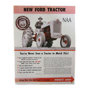 Sales Brochure Fits Ford Tractor Naa 1953 1954 1955 53 54 55 Golden Jubilee