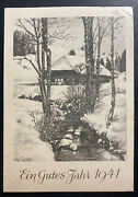 1940 Germany Buchenwald Concentration Camp Christmas Postcard Cover To Neuhaus