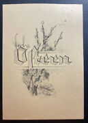 1941 Germany Buchenwald Concentration Kz Camp Christmas Picture Postcard Cover