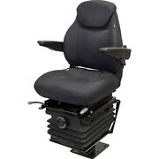Cordura Fabric-black Fold-down Seat With Armrests Fits Case Backhoe 580 6835