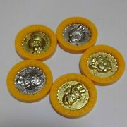 Super Mario Rpg Coin Medals Yossi Geno Keychain Figure 2 Rare From Japan F/s