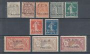 Syria Sc 1-10 Mlh. 1919 First Issue With French T.e.o. Overprints Complete Set