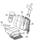 Genuine Mopar Front Seat Back Cover Right 5yw98dx9aa