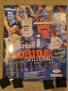 Vintage 2004 Florida Gators Women's Volleyball Autographed 20x24 Team Poster