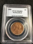 1896 Pcgs Graded Newfoundland Large Andcent1 Cent Ms-64