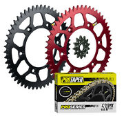 Pro Taper F/r Sprockets And Forged 520 O-ring Chain Kit For 1987-2007 Honda Cr125r